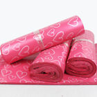 Pink Heart Poly Mailers Shipping Envelopes Self Sealing Plastic Mailing Bags
