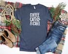 Coffee Cats and Chill Women's Coffee Cat Lover T-Shirt Tee