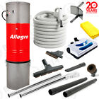 Allegro Central Vacuum 6000 sq ft Powerful Unit Electric Hose Powerhead Package