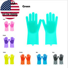 1Pair Magic Silicone Rubber Dish Washing Gloves Multi-Purpose Scrubber Cleaning