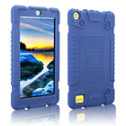 Soft Silicone Case Rubber Bumper Drop Protection For Amazon Fire 7 / HD 8 2017