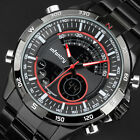INFANTRY Mens Digital Wrist Watches Chronograph Stainless Steel Military Sport