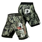 DEFY Green Camo MMA Boxing Shorts Gym Muay Thai UFC Cage Fight BJJ Grappling