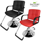 Barber Chair Hydraulic Recline Hair Cutting Beauty Salon Spa Styling Red/Black