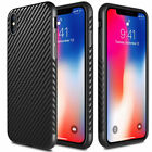 For Apple iPhone XS Max/XS/X Carbon Fiber TPU Shockproof Cover Phone Case
