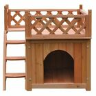 Aleko Products Wooden 2 Level Dog House