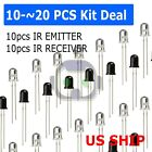 Infrared Ir Led Sender & Receiver Pairs You Choose Quantity 3mm Or 5mm Usa