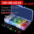 Kyпить 150~300 pcs 3mm 5mm LED Light White Yellow Red Green Assortment Kit For Arduino на еВаy.соm