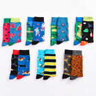 6 Style Mens Funny Novelty Socks Crazy Cute Cool Cotton Food animal Crew Socks