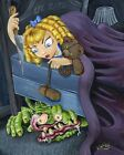 Lil Miss Roth by JR Linton Monster Under Child's Bed Framed Wall Art Print