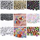 100Pcs Acrylic Alphabet Beads Charms Pendants for Necklace Bracelets DIY Jewelry