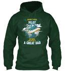Pilot &amp Dad Hero - Double But More Importantly A Standard College Hoodie