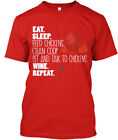 Eat Sleep Wine And Chickens - Feed Chicken Clean Coop Standard Unisex T-shirt