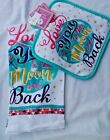 Inspirational Towel and Pot Holder Set Bright  New  College Dorms Apt.  or Home
