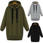 Women Hooded Hoodies Long Sleeve Thicken Loose Pull Over Plus Size Outwear 32