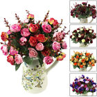 21heads Artificial Silk Flowers Rose Bunch Wedding Home Grave Outdoor Bouquet Y