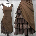 Women Steampunk Fairy Dress Romantic Medieval Pixie Dress Victorian Goth Costume