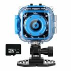 Kids Waterproof Camera Digital Underwater With Video Recorder 8GB Memory Card