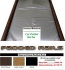 2 pc Padded Waterbed Rails-Lt or Dk Brown, Black-Fits King Queen or Super Single