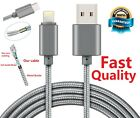 Braided Quality USB Quick Charger Data Charging Cable Lead For iPhone 5S 6 7+ 8