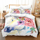 New Unicorn Fantasy Duvet Cover Set Quiltted Bedding Pillowcases Twin/Queen/King