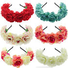 New Summer Beach Wedding Flower Crown Multi Color Tiara Bridal Headband Garland