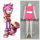 Sonic Boom Team Sonic Amy Rose the Hedgehog Pink Outfit Cosplay Costume Cos