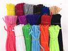 "100pc chenille craft stems pipe cleaners 30cm 12"" long, 6mm wide-lots colours"