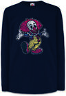 Clown I Kinder Langarm T-Shirt Fun Circus Toon Cartoon Look Comic Zirkus