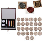Внешний вид - Initial Vintage Wax Badge Seal Stamp Wax Alphabet Letters A-Z Kit Set Wedding