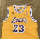 Throwback Lebron James Lakers Jersey Los Angeles Adult Mens NWT #23 Stitched on eBay