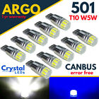 501 T10 W5w Led Bulbs Smd Car Side Interior Lights Wedge Lamp Canbus Error Free