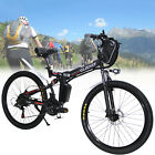 "CLIENSY Folding Electric Bike City Mountain Cycling EBike 36V 350W 26"" Bicycle"