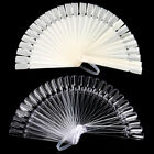 Sexy 32Pcs Nail Art False Sticks Polish Practice Display Fan Board Design Tool