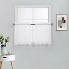 2 Piece Beautiful Sheer Window Elegance Curtains-Drape-Panels-Treatment