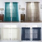 Kyпить 2 Piece Beautiful Sheer Window Elegance Curtains-Drape-Panels-Treatment на еВаy.соm