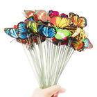15Pcs Artificial Simulation Butterfly Stakes Garden Yard Plant Lawn Decor USA