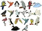Birds Parrots Seagulls Cockatoo Penguin Puffin Flamingo Raven Tern Enamel Badges