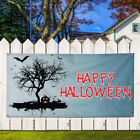 Vinyl Banner Sign Happy Halloween #3 Lifestyle Marketing Advertising White/Grey $164.99 USD on eBay