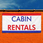 Vinyl Banner Sign Cabin Rentals business banners Marketing Advertising white for sale  USA