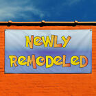 Vinyl Banner Sign Newly Remodeled Business Outdoor Marketing Advertising Blue
