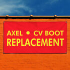 Vinyl Banner Sign Axel Cv Boot Replacement Automotive Marketing Advertising Red $14.99 USD on eBay
