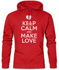 Keep Calm And Make Love Hoodie Kapuzenpullover Red Lip Girlfriend Liebe Partner