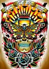 Moth by Tyler Bredeweg Let The Light Be Your Guide Tattoo Canvas Fine Art Print