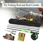 Fly Fishing Rod and Reel Combo Carbon Fiber Fly Pole Fishing Gloves Pliers Q7X8