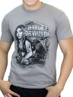 Harley-Davidson Mens Winding Curves Pinup Girl Short Sleeve Grey T-Shirt image