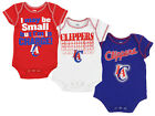 OuterStuff NBA Infant Los Angeles Clippers 3 Piece Bodysuit Creeper Set on eBay