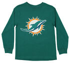 Outerstuff NFL Youth Miami Dolphins Long Sleeve Primary Logo Tee $14.99 USD on eBay