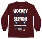 Reebok NHL Youth Washington Capitals Long Sleeve WC15 Now In Session Tee, Maroon $9.99 USD on eBay