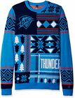 Klew NBA Men's Oklahoma City Thunder Patches Ugly Sweater, Blue on eBay